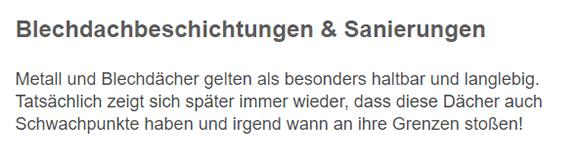 Blechdachbeschichtungen in  Carlsberg
