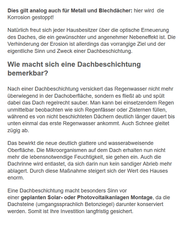 Dachbeschichtung Infos aus  Limbach