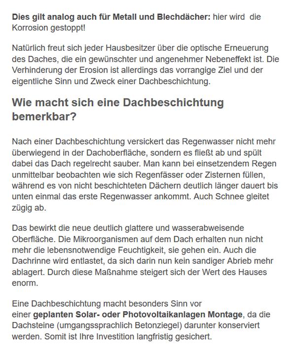 Dachbeschichtung Infos in  Karlsbad