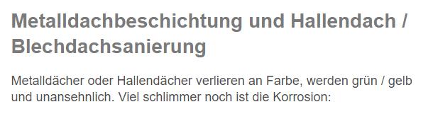 Hallendachsanierungen in  Großheubach, Laudenbach, Miltenberg, Röllbach, Kleinheubach, Rüdenau, Bürgstadt oder Klingenberg (Main), Weilbach, Freudenberg