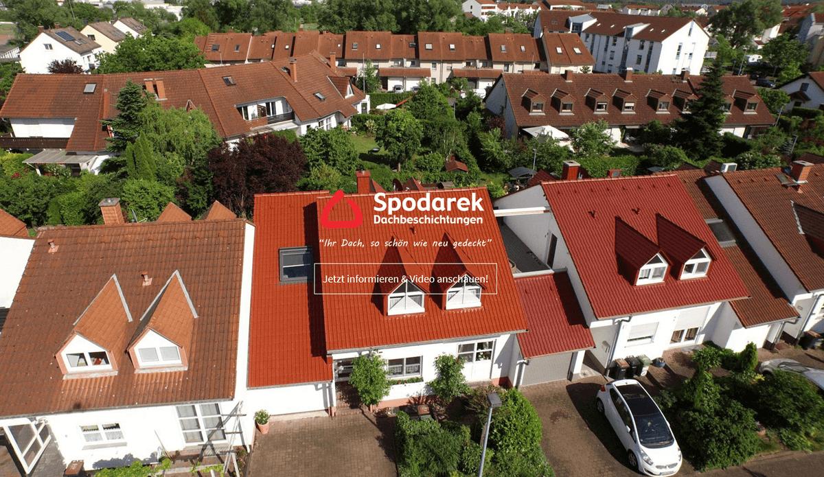 Dachbeschichtung in Aschaffenburg - 🥇 SPODAREK: ✅ Dachdecker Alternative, Dachreinigungen, Dachsanierungen