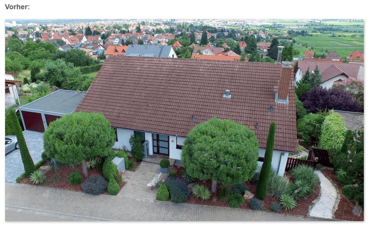 Dach Vorher: Schmutz, Moose in den Dachrinnen in  Weinheim